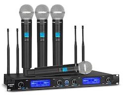 G-Mark G440 Trådlöst mikrofonsystem 4-kanaler 4 handmikrofoner