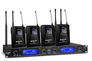 G-Mark G440 Trådlöst mikrofonsystem 4-kanaler 4st myggor