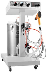 Pulverlackingsmaskin med kärl 45L 50W 100Kv