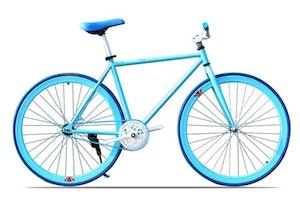 Fixed Gear Cykel blå/vit