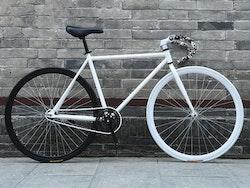 Fixed Gear Cykel vit/svart