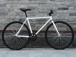 Fixed Gear Cykel svart/vit