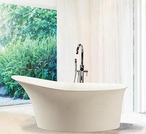 Fristående badkar nordisk design