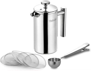 Velaze cafetière kaffe press i rostfritt stål 350ml