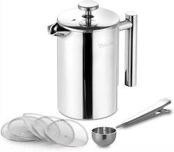 Velaze cafetière kaffe press i rostfritt stål 1000 ml