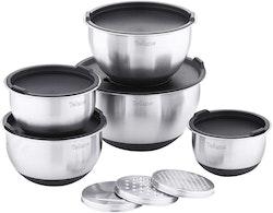Velaze Professional köksskålar 5-delar rostfritt stål