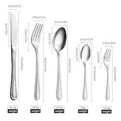 Velaze bestick set i 60-delar rostfritt stål silver
