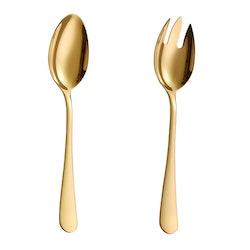 Velaze sallads bestick set i 4-delar guld