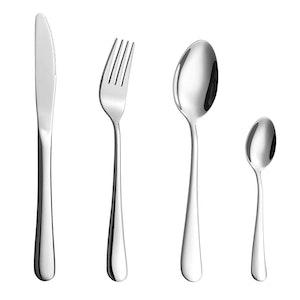 Velaze bestick set i 32-delar rostfritt stål silver