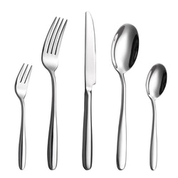 Velaze bestick set i 20-delar rostfritt stål silver
