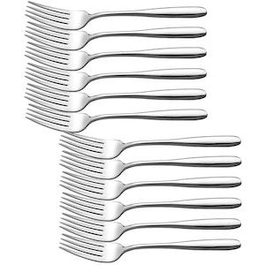 Velaze gaffel set 24-delar rostfritt stål silver
