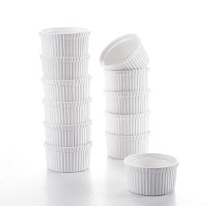 MALACASA små ugnsform set 12-delar i porslin vit