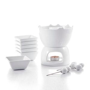 MALACASA mini fondue Set för 6 pers i porslin