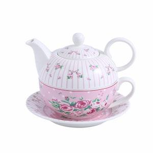 MALACASA Sweet time serien, 4-delad te-för-en-set rosa