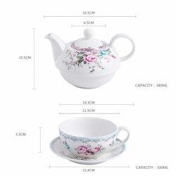 MALACASA Sweet time serien, 4-delad te-för-en-set blomma