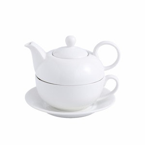 MALACASA Sweet time serien, 4-delad te-för-en-set vit
