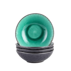 Vancasso, Coco serien skålar 4-delar i keramik grön