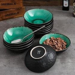 Vancasso, Coco serien skålar 12-delar i keramik grön