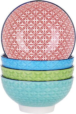 Vancasso, Macaron serien skålar 4-delar i porslin flerfärgad