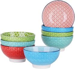 Vancasso, Macaron serien skålar 8-delar i porslin flerfärgad