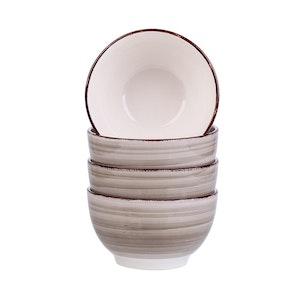 Vancasso Bella serien, skål set 4-delar i keramik creme