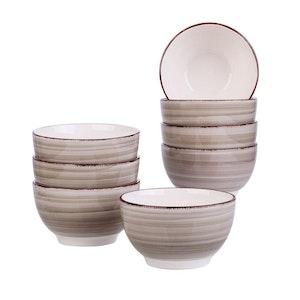 Vancasso Bella serien, skål set 8-delar i keramik creme