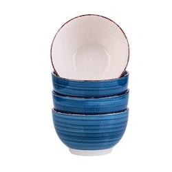 Vancasso Bella serien, skål set 4-delar i keramik blå