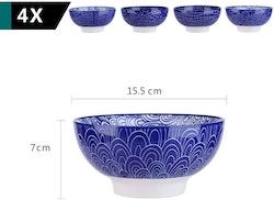 Vancasso TAKAKI serien, skål set 4-delar i keramik blå