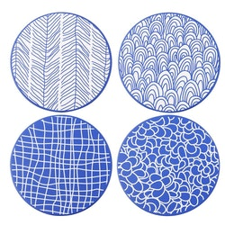 Vancasso TAKAKI serien, underlägg 8-delar i keramik blå