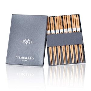 Vancasso Haruka, japanska ätpinnar i naturlig bambu 8 par