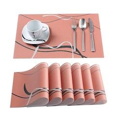 VEWEET FIONA serien, underlägg 6-delar i vinyl brun