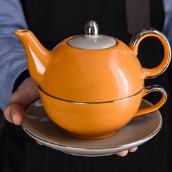Artvigor, 3-delad te-för-en-set orange/grå