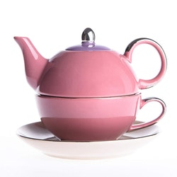 Artvigor, 3-delad te-för-en-set rosa/beige