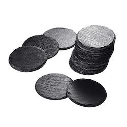 MALACASA underlägg 16-delar i skiffer svart