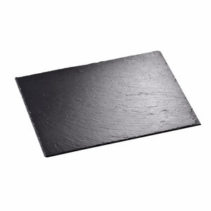 MALACASA underlägg 6-delar i skiffer svart