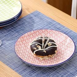 Vancasso Macaron serien, tallrik 4-delar i porslin