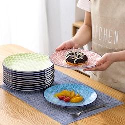 Vancasso Macaron serien, tallrik 12-delar i porslin