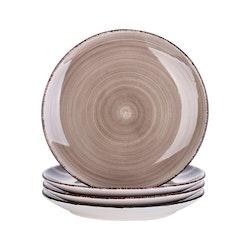 Vancasso Bella serien, tallrik 4-delar i porslin brun