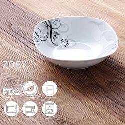 VEWEET ZOEY serien, djupa tallrikar 2-delar i porslin