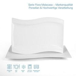 MALACASA Flora serien, tallrik 2-delar i porslin