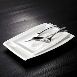 MALACASA Blance serien, tallrik 4-delar i porslin