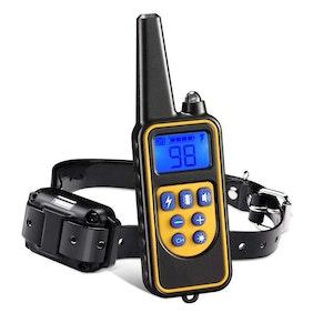 Elektriskt träningshalsband till hund med fjärrkontroll