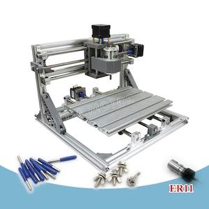 CNC 2418 fräs, lasergravyr med ER11