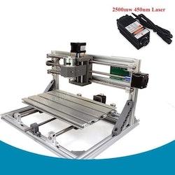 CNC 3018 router fräs, lasergravyr maskin 2500mw laser
