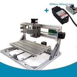 CNC 3018 router fräs, lasergravyr maskin 5500mw laser