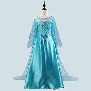 Frost Elsa Anna, klänning barn strl.9
