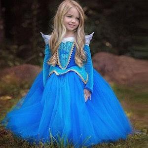 Disney prinsessa Törnrosa, klänning barn strl.5