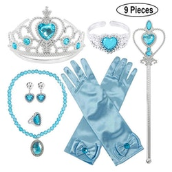 Frost Elsa Anna, krona stav smycken 9-delar