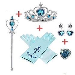 Frost Elsa Anna, krona stav smycken 7-delar