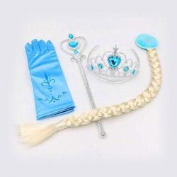 Frost Elsa Anna, krona stav smycken 5-delar
